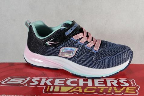 Skechers Sneaker Schnürschuh Sportschuh blau/ rosa Memory Foam NEU