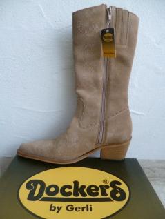 Dockers Cowboystiefel Westernstiefel Stiefel Motorradstiefel Boots beige Leder - Vorschau 2