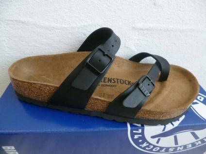 Birkenstock Mayari Pantolette Sandale Schwarz Birkoflor 71791 NEU!