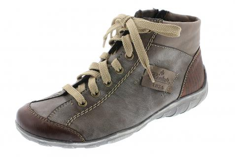 Rieker L6540 Sneaker Damen Stiefel Stiefelette Schnürschuhe, Sneaker L6540 braun NEU! 1a35b9