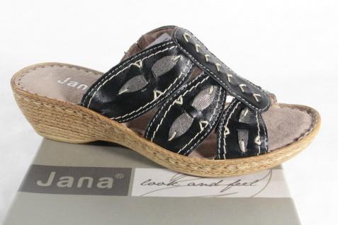 pretty nice fd1e2 5ca19 Jana Damen Pantoletten Sandalen Sandaletten schwarz Leder NEU!!