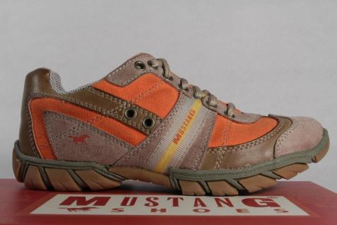 Mustang Schnürschuhe Halbschuhe Sneakers braun/orange Kunstleder braun/orange Sneakers NEU! a8e19d