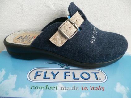 Fly Flot Pantoffel Pantoffeln Hausschuhe Clogs blau NEU !!!