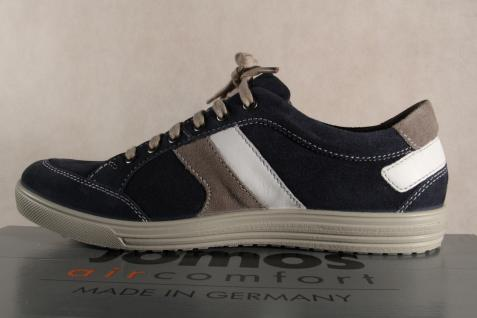 Jomos aircomfort Herren Schnürschuh Leder 314304 Sneakers Halbschuh blau Leder Schnürschuh NEU f1db6b