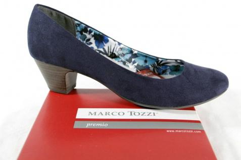 Marco Tozzi Slipper Innensohle Ballerina Pumps blau weiche Innensohle Slipper NEU! 5f37fe