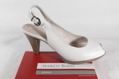 Marco Tozzi Damen weiß, Sandale, Sandalette weiß, Damen Echtleder NEU!! 7e743e