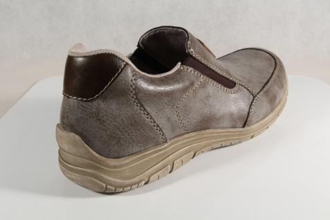Rieker Slipper Sneakers weiche Halbschuhe grau/ braun weiche Sneakers Lederinnensohle NEU dd586c