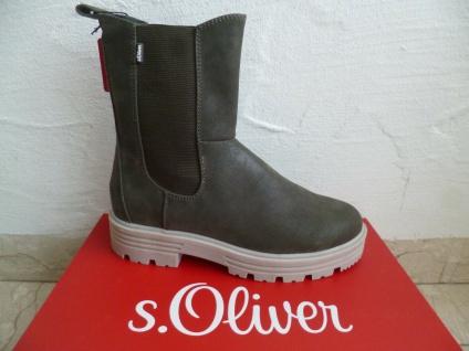 S.Oliver Damen Stiefel Stiefelette Stiefeletten Boots khaki NEU!