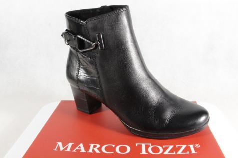 Marco Leder Tozzi Stiefelette Stiefel, schwarz, Leder Marco 25385 NEU!! 18f9d3