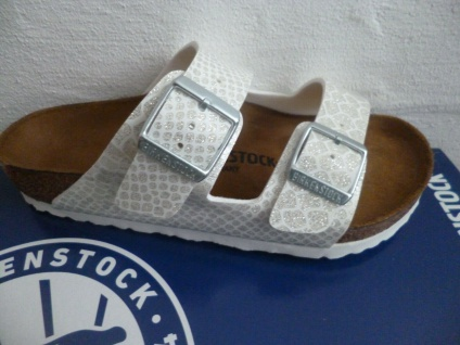 Birkenstock Pantolette Pantoletten Arizona Magic Snake White 1009126 NEU!