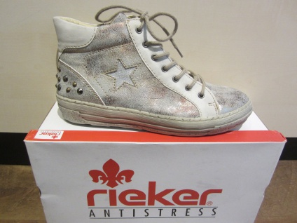 Rieker Stiefel NEU mit Reißverschluss, beige/grau Stofffutter, NEU Stiefel 50c83a