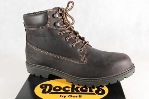 watch e9160 9884f Dockers Herren Stiefel Boots Winterstiefel dunkelbraun Echtleder 19PA140 NEU