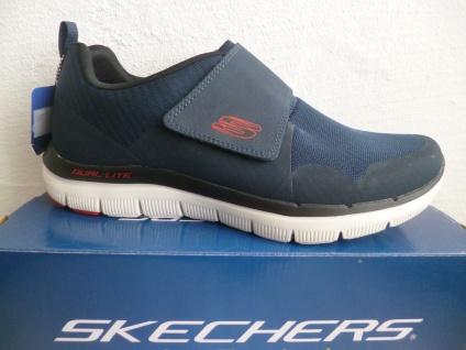 Skechers Herren Slipper Sneaker Sneakers Sportschuhe blau 52183 NEU!