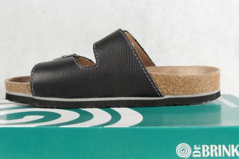 Dr. Brinkmann Herren Pantolette Pantoffel schwarz breite Form NEU!
