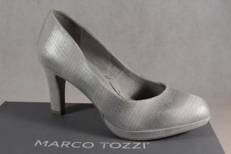Marco Tozzi NEU! Pumps Ballerina Slipper grau-metallic NEU! Tozzi 406565