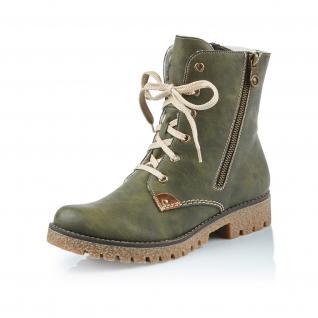 Rieker Damen Stiefel grün Stiefeletten Schnürstiefel grün Stiefel 79839 NEU! 1138cb