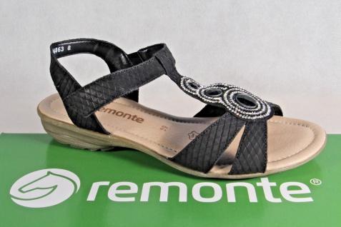 Remonte Sandale Sandaletten Lederfußbett schwarz Lederfußbett Sandaletten Echtleder NEU! 671be2