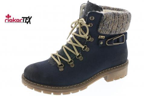 Rieker Damen blau Stiefel Stiefeletten Schnürstiefel Stiefel blau Damen Y9131 NEU! 4f7491
