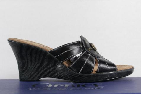 Caprice Damen Sandalen Pantoletten Sandalen Damen Echtleder schwarz NEU! 43d6f1