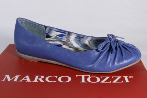 Marco Tozzi Ballerina Slipper Halbschuhe Pumps blau NEU!!