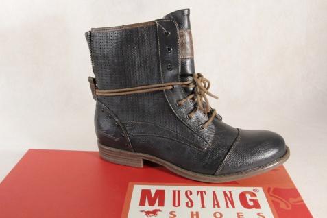 Mustang Stiefel Stiefeletten Schnürstiefel Boots grafit NEU!