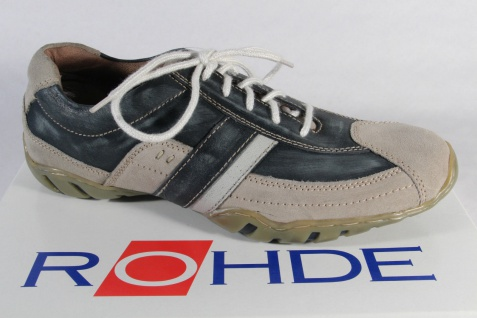Rohde Schnürschuhe Schnürschuhe Rohde Halbschuhe Sneaker blau/beige NEU! b70540