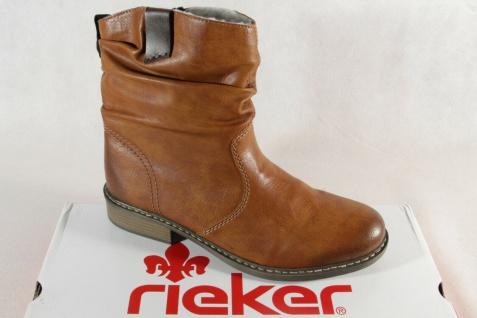Rieker Stiefel Stiefelette Stiefeletten Boots Winterstiefel braun Z4180 NEU!