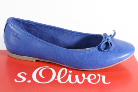 s.Oliver Ballerina Slipper Halbschuhe Pumps blau, Lederinnensohle NEU!!