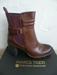 Marco Tozzi Damen Stiefel Stiefelette Stiefeletten Boots Leder braun NEU!