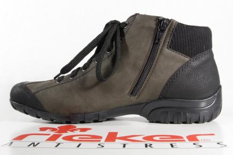 Rieker Stiefel Stiefelette Boots Schnürstiefel oliv/schwarz L4641 NEU!