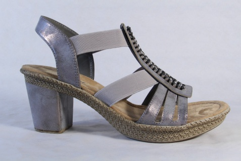 Rieker Damen Sandale grau, Sandalette Sandalen grau, Sandale weiche InnensohleNEU!! ef1c1c