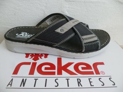 Rieker Pantoletten Pantolette Sandale Sandalen schwarz/grau NEU