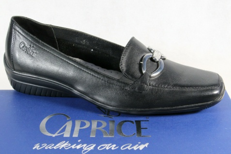 Caprice Slipper Ballerina Pumps black Echtleder Antishok NEU