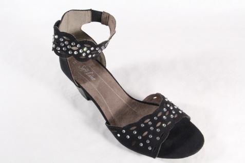 Soft Damen Line Damen Soft Sandalen Sandaletten schwarz Neu! 12c029