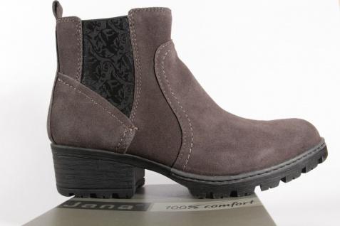 Jana 25404 Damen Stiefel, Stiefeletten Boots Echtleder grau NEU!