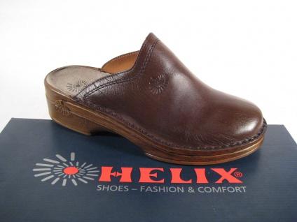 Helix Clogs Pantoletten Pantolette Hausschuhe !!! braun Lederfußbett Leder Neu !!! Hausschuhe ba6244