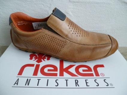 Rieker Herren Slipper Sneakers Sportschuhe Halbschuhe braun Echtleder NEU