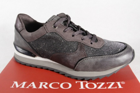 Marco Tozzi Damen Schnürschuhe 23714 Sneakers Halbschuhe grau NEU!