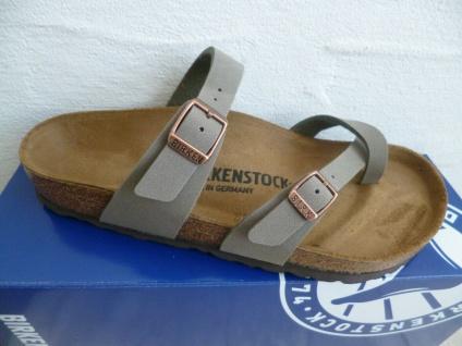 Birkenstock Mayari Pantolette Sandale Stone Birko Flor 71071 NEU!