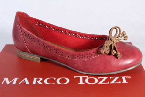 Marco Tozzi Ballerina 22115 Slipper Halbschuhe Pumps rot NEU!!