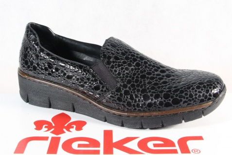 Rieker Damen Slipper Halbschuhe Sneakers schwarz 53766 NEU!