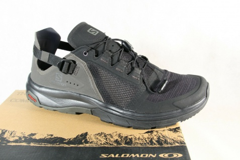 Salomon TECHAPHIBIAN 4 Sportschuhe Halbschuhe Sneakers Laufschuhe schwarz Neu!!!