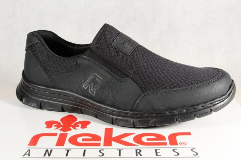 Rieker Slipper Halbschuhe, Sneaker schwarz, MemoSoft, B4873 NEU!!