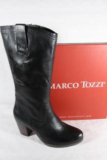 Marco Tozzi Damen Leder Stiefel Stiefeletten Winterstiefel schwarz Leder Damen 25574 NEU!! 224f17