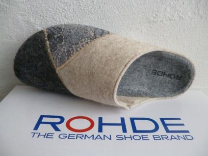 Rohde grau Damen Pantoffel Hausschuhe Softfilz, grau Rohde beige 6022 NEU!! cbce73