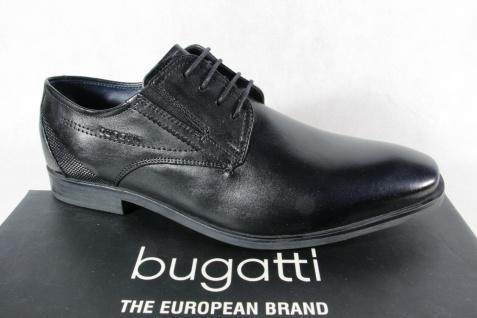 Bugatti Herren Schnürschuhe Halbschuhe Sneaker schwarz Leder 19608 NEU!