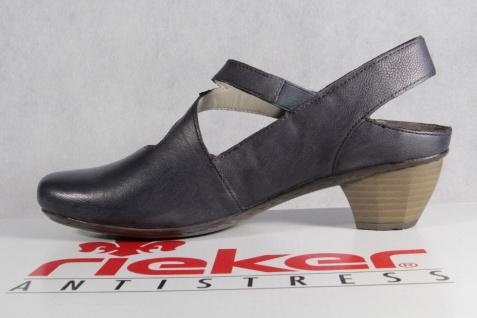 Rieker Damen Sandale blau Sandalette Sling blau Sandale Echtleder NEU!! 92b096