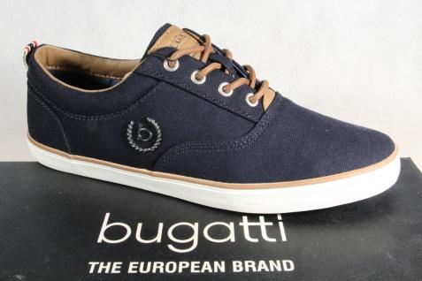 Bugatti Herren Schnürschuh Schnürschuhe Halbschuhe NEU! Sneaker blau NEU! Halbschuhe 579320