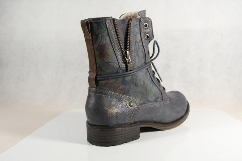 Mustang Stiefel Stiefeletten Schnürstiefel NEU! Stiefel blau/ grau 1139 NEU! Schnürstiefel abc13c
