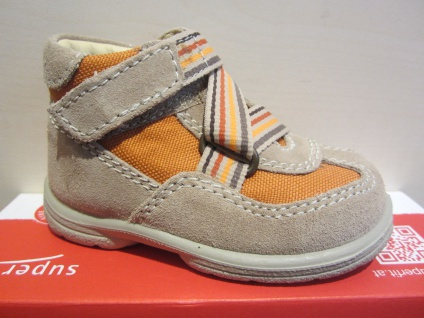 Superfit LL-Stiefel beige/orange KV Lederfußbett Neu !!!
